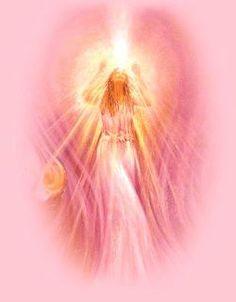 Beloved Angel of the Rose Pink Flames