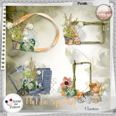 Cluster using Hello Spring by S.Designs http://scrapfromfrance.fr/shop/index.php?main_page=product_info&cPath=88_174&products_id=9777
