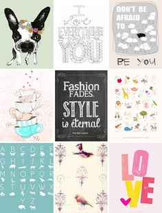 DIY // free printable posters - PS by Dila | PS by Dila - Your daily…