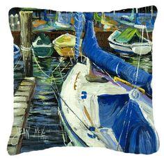 Sailboats Indoor/Outdoor Throw Pillow