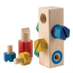 Bolt Block - Wooden manipulative toy from <em>Guidecraft</em>