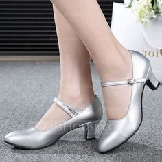 36bbb508a29f  US  36.99  Women s Real Leather Heels Pumps Character Shoes With Buckle Dance  Shoes (053111433)