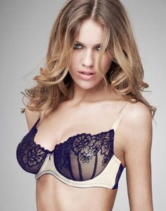 0bb1c829416e7 Kate Cream Violet Underwired Bra at Ann Summers Sheer Material
