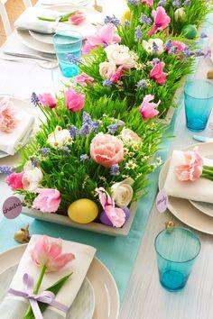 Mesa florida. #páscoa #easter #flowers #mesaarrumada