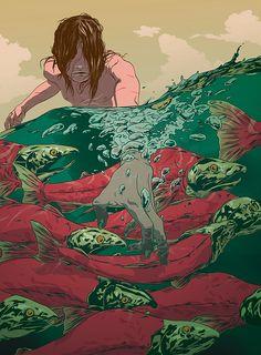 sobrevivencia ilustrada Homo Ferus by Johnny Dombrowski