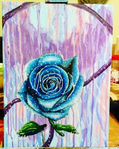 """After the Tears Dry,"" 12"" x 16"" acrylic on canvas"