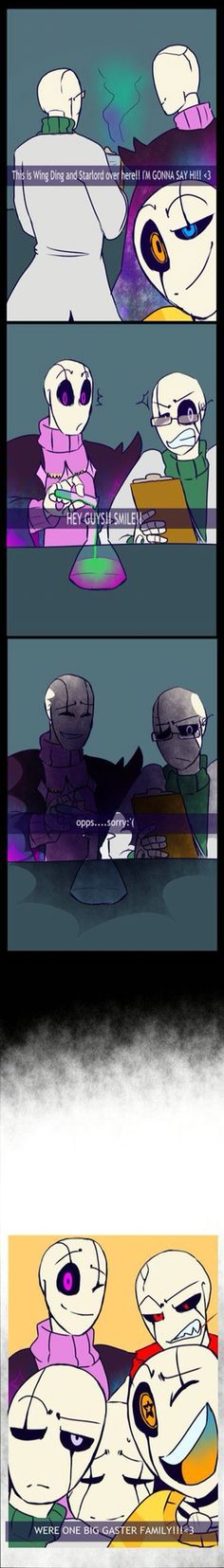 Picture time! With ut!gaster and outer!gaster Gaster family!