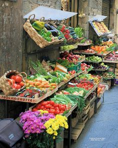 Produce stand in Florence, Italy