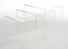 Feed right into your need to nest with this trio of acrylic tables. They are perfect for arranging beside your bed, sofa or in an entryway.