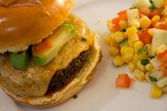 Ginger and Olives - German Girl Cooks   Jalapeño Black Bean Cheeseburger - Food Blog Recipe