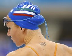 Italy's Ilaria Bianchi prepares to train at the main pool at the Aquatics Centre before the start of the London 2012 Olympic Games in London July 26, 2012.