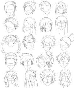 Idées coiffures d'homme Dessin la tête Dessin