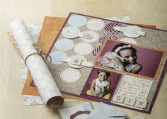 Vintage Chic Shape Maker System Scrapbook Layout Idea from Creative Memories