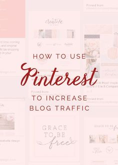 Blogging tips on using Pinterest can be so helpful to increase traffic!