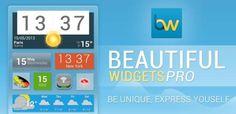 Beautiful Widgets, la aplicación de widgets perfecta, vuelve tras un lavado de cara con una nueva y flamante versión. Toneladas de widgets y toneladas de temas solo para ti. Beautiful Widgets es tu mejor aliado para personalizar tu pantalla de inicio. Personalízala, dale un toque único y exprésate.  http://todoparamoviles.blogspot.com/2013/09/android-beautiful-widgets-pro-531.html#ixzz2fAnGOaUI