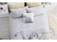 Świąteczna pościel z zimowym nadrukiem niedźwiedzi polarnych. Idealnie nadaje się żeby wprowadzić świąteczny nastrój do domu, odrobina świątecznej magii ucieszy całą rodzinę. Więcej na http://tetex.pl/oferta.php?item_id=4e445979