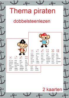 Thema piraten prachtig pakket met 10 verschillende leesspelletjes voor groep 3/4
