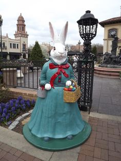 The Easter Bunnies on the Country Club Plaza in Kansas City have been put out every season since the 1920's.