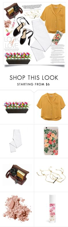 """YELLOW !"" by arwitaa ❤ liked on Polyvore featuring Improvements, Vince, Tory Burch, Rifle Paper Co, GUESS by Marciano, Bobbi Brown Cosmetics and Winky Lux"