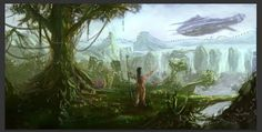Use Photography to Create a Scenic Matte Painting From a Sketch in Photoshop