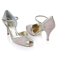 Kittie Suede And Leather Peep Toe Shoes by Rachel Simpson shoes