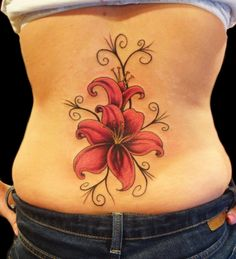 One beautiful flower tattoo that you may want to consider is the lily tattoo. Although the lily tattoo is not considered to be a main stream tattoo, there is a popularity for the tattoo. The lily tattoo can be designed alone or portrayed with other. Gladiolus Flower Tattoos, Hawaiian Flower Tattoos, Tribal Flower Tattoos, Lily Flower Tattoos, Tattoos For Women Flowers, Beautiful Flower Tattoos, Tattoo Flowers, Orchid Tattoo, Colorful Tattoos