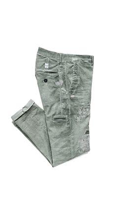 Pantaloni in twill di cotone stretch