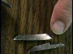 ▶ Miniature Knives How to Make for Dollhouse - YouTube gör tunnt svart skaft med silverskruvar