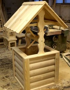 looks like a ready-made wooden decorative well