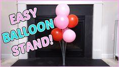 EASY BALLOON STAND | BALLOON CENTERPIECE Balloon Centerpieces, Balloon Garland, The Balloon, Balloons, How To Make Balloon, Balloon Stands, Kids Birth, Hello Everyone, Birthday Parties