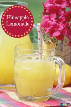 Refreshing Pineapple Lemonade Recipe - Delicious juice drink idea for summer!