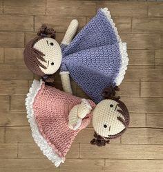 Crochet Dolls, Crochet Yarn, Free Crochet, Patron Crochet, Lovey Blanket, Baby Lovey, Security Blanket, Crochet For Kids, Beautiful Dolls