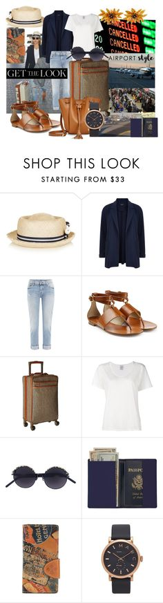 """Challenge Accepted - To Look This Good After 4 Flights And Leaving The Last Airport To Start Her Dream Vacation"" by sharee64 ❤ liked on Polyvore featuring Benoît Missolin, New Look, 7 For All Mankind, Michael Kors, Hartmann, Visvim, Kuboraum, Plane, Royce Leather and Patricia Nash"