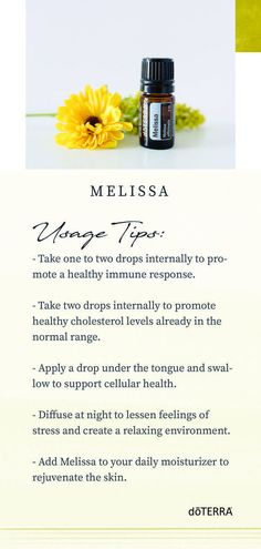 , One of the rarest of doTERRA®'s essential oils, Melissa has a wide range of ben. , One of the rarest of doTERRA®'s essential oils, Melissa has a wide range of benefits and uses. Discover how you can use this amazing essential oil. Melissa Essential Oil, Doterra Essential Oils, Essential Oil Blends, Doterra Oils, Doterra Products, Doterra Blends, Health Products, Melissa Oil, Pure Oils