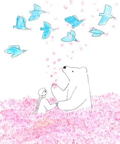 食器と食パンとペン Body Sketches, Illustration Art, Illustrations, 2d Art, Polar Bear, Projects To Try, Archive, Doodles, Fairy