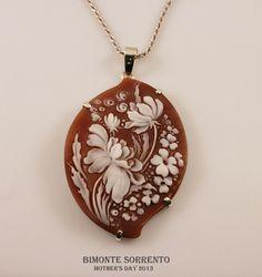 Magnolia Cameo Necklace Bimonte Cameos Coral Sorrento