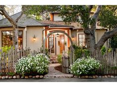 Carmel-by-the-Sea, CA Real Estate & Homes for Sale Cute Cottage, Modern Cottage, Cottage Style, House Front, My House, Small Yard Landscaping, Cottage Living Rooms, Classic Architecture, Little Houses