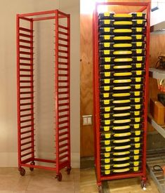 Image a great example of a style pinsight from an informed pinner – workshop Garage Tool Storage, Garage Tool Organization, Workshop Storage, Home Workshop, Garage Tools, Garage Shop, Garage Workshop, Garage Organization, Storage Rack