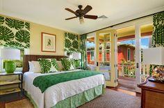 Tropical cottage bedroom at Kukuiula #decorating #Kauai #Hawaii