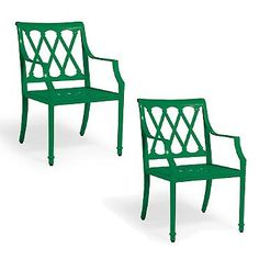 $876 for 2 Grayson Set of Two Dining Arm Chairs in Jade Finish
