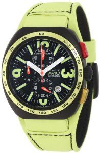 Montres De Luxe Men's BK5503 Black Avio Summer Quartz Chronograph Black Dial Watch Montres De Luxe. $1424.95. Yellow leather band with black topstitching. Quartz movement. Chronograph function with attractive pushers. Luminous hands and indexes. Water-resistant to 99 feet (30 M)
