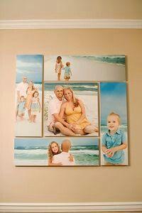 Fotos pegadas a madera