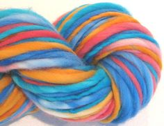 Bulky Thick and Thin Handspun Yarn Raggedy by SpinningWheelStudio, $17.00