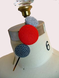 Felt button headband