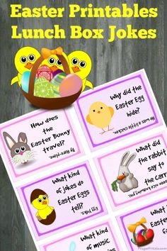 Free Printable Easter Kids Lunch Box Jokes
