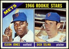 NEW YORK METS 1966 TOPPS ROOKIE STARS CLEON JONES DICK SELMA FREE SHIPPING