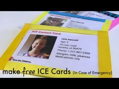 make free ICE [In Case of Emergency] cards for your kids - teach mama