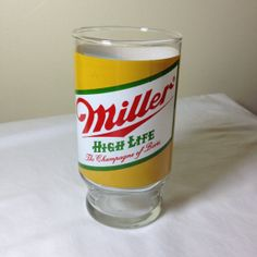 Miller High Life beer glass by ugliducklings on Etsy, $4.00