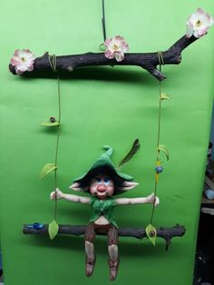 Polymer Clay Fairy, Clay Fairies, Leprechaun, Cute Dolls, Miniature Dolls, Creative Inspiration, Troll, Einstein, Woodland