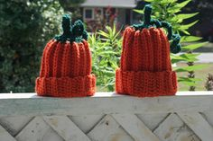 Great for photographers, Halloween costumes for baby or just for fun!!  Cute Crochet Pumpkin Hat by BlissfulFiber on Etsy, $8.50